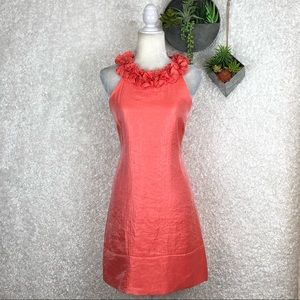 London Times Coral Shimmer Dress | 8